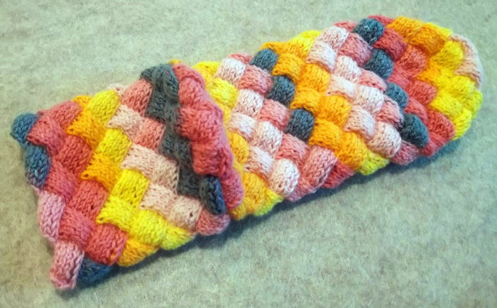 バスケット編みの靴下 かかと側